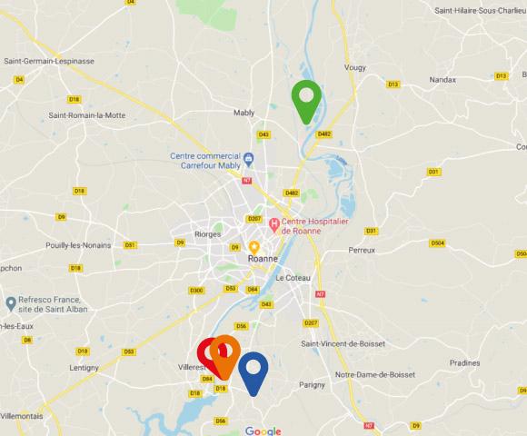 Chiaverina est situé à Commelle-Vernay dans la Loire