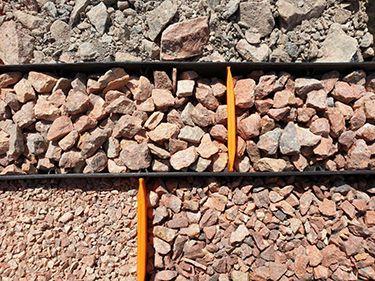 Matériaux naturels de carrière issus de roche porphyre granitique rouge