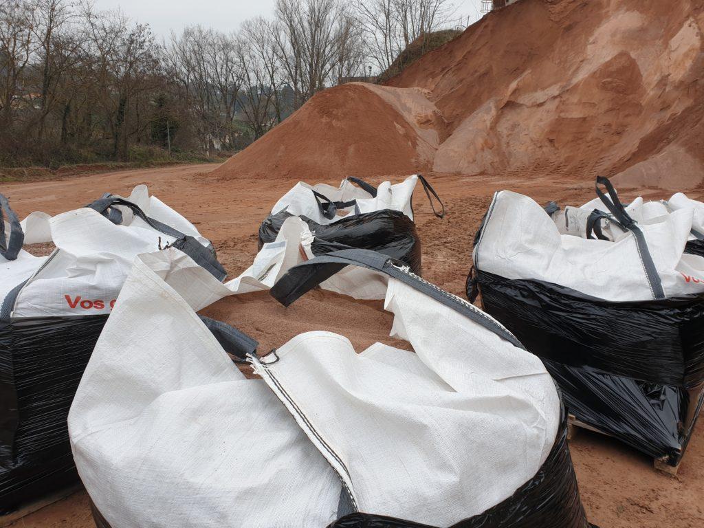 production et vente gravillons rose vrac big bag sac